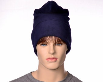 Phrygian Cap Navy Blue Pointed Liberty Cap Man or Womans Hat Fleece Watchman HatLong