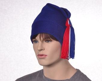Royal Blue Phrygian Cap Red White Blue Tassel Liberty Cap 4th of July Revolution Hat Bastille Day