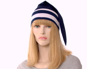 Navy Blue and White Sailor Cap Anne of Green Gables Point Cap