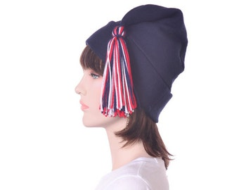 Navy Blue Liberty Hat Red White Blue Tassel Patriotic Phrygian Cap Adult Men Women Warm Winter Beanie