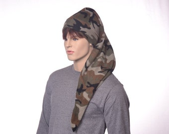 Long Stocking Cap Camo Hat Three Foot Fleece Stocking Hat Unisex Long Tail Hat