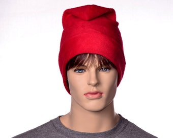 Red Phrygian Cap Simple Liberty Hat Mens Hat Women 4 sizes available Fleece