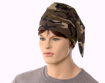 NightCap Camo Green Night Cap Cotton Knit Unisex Adult Men Women