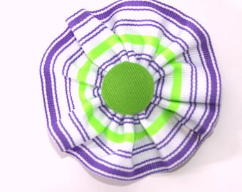 Suffragette Cockade U.K. Ribbon Hat Trim Brooch Loyalist Rosette Purple White Green