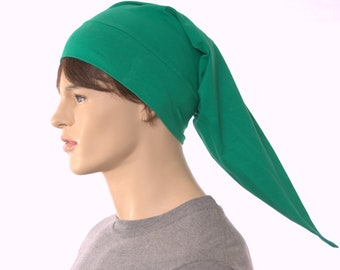 NightCap Green Pointed Hat Cotton Night Cap Elf Hat