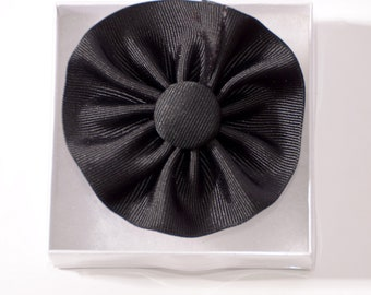 The Black Cockade Ribbon Hat Trim Brooch American Revolution