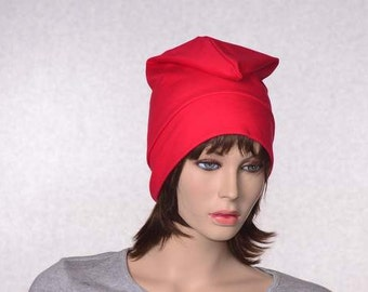 Red Liberty Cap Cotton Phrygian Hat Front Pointed Unisex Adult Bonnet Rouge Bastille Day Revolution