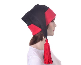 Stocking Hat with Tassel and Red Phrygian Cap Adult Women Mens Costume Hat