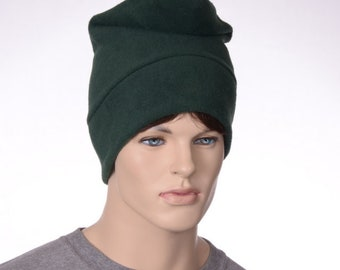 Dark Green Phrygian Cap Simple Liberty Hat Forest Green Elf Gnome Hat