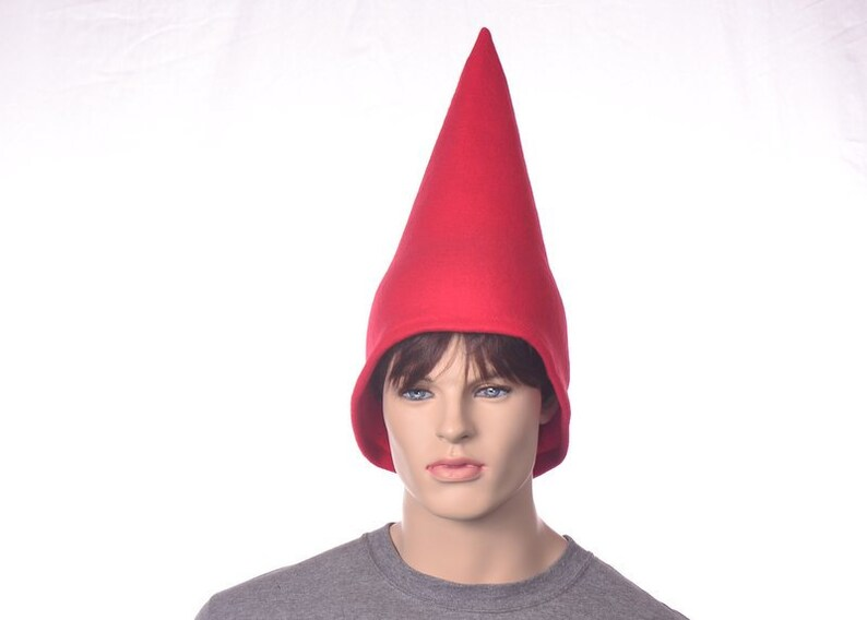 f07d38b27a4 Red Gnome Hat Mid-Height Garden Gnome Cap Traveling Gnome Hat
