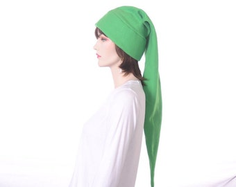 Green Elf Hat Long Stocking Cap Fleece Hero Extra Large Long Pointed Adult Cosplay