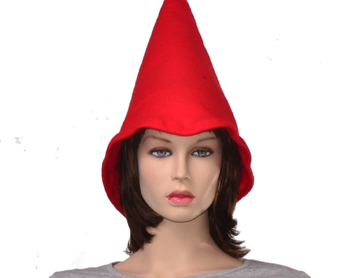 Featured listing image: Oversized Red Gnome Hat Extra Wide Bell Brim Cosplay