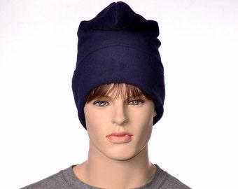 Phrygian Cap Navy Blue Pointed Liberty Cap Man or Womans Hat Fleece Watchman HatLong Cosplay