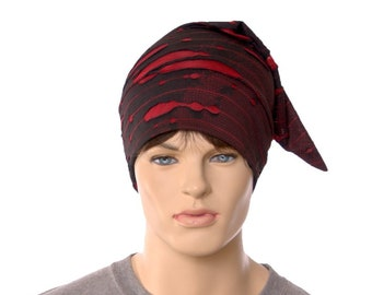 Nightcap Ghost Pirate Tattered Stocking Cap Zombie Hat Distressed Goth Hat Adult Cosplay