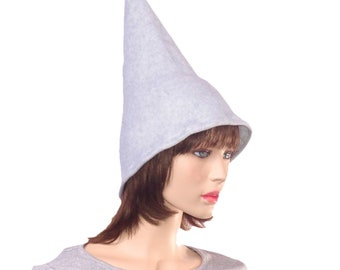 Gray Pointed Wizard Hat Cosplay
