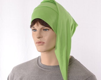 Night Cap Light Green Pointed Nightcap Cotton Adult Men Women  Cotton Lightweight Elf Hat