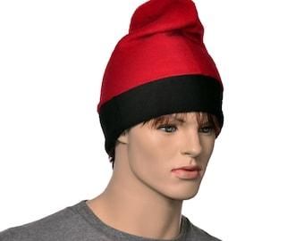 Barretina Hat Red Black Fleece Slouchy Beanie Cap Barrentina Baretina Mediterran Fisher Hat Watchman Cap Cosplay