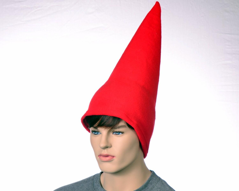 1d5122d975f Red Gnome Hat Extra Tall Cap Fleece Men Women Tall Pointed ...