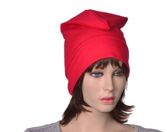 Red Liberty Cap Cotton Phrygian Hat Front Pointed Unisex Adult Bonnet Rouge Bastille Day Revolution Cosplay