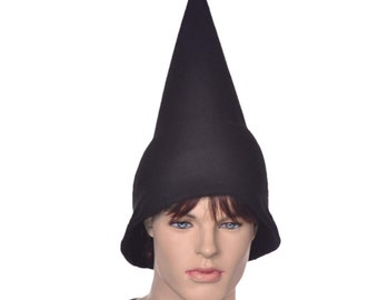 Black Wizard Hat Oversized Pointed Cap Gnome Pointy Student Sorcerer Witch Cosplay