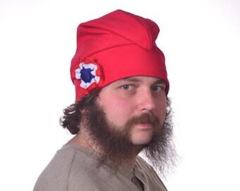 Red Liberty Hat Cotton Phrygian Cap Red White Blue Cockade Hat Unisex Adult Men Women Hat Bonnet Rouge Bastille Day Revolution