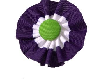 Suffragette U.K. Cockade Ribbon Hat Trim Brooch Suffrage Rosette Purple White Green