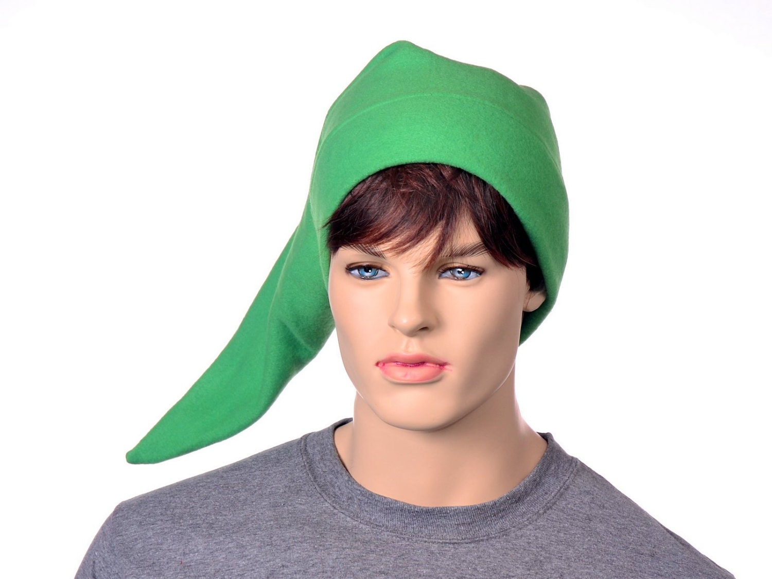 f6e56950 Green Pointed Elf Hat Green Long Pointed Cap Elvish Hero Pointed Cap