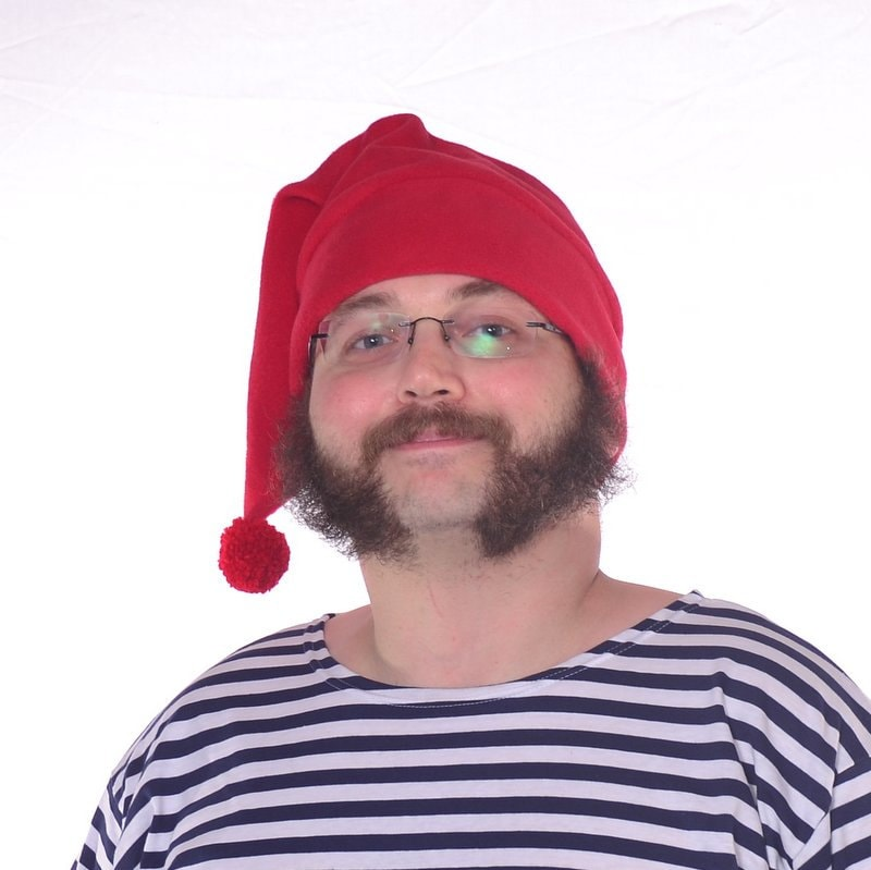 Mr Smee Hat Red Stocking Cap with Pompom Mens Womens Adult 2a63e58cecc7