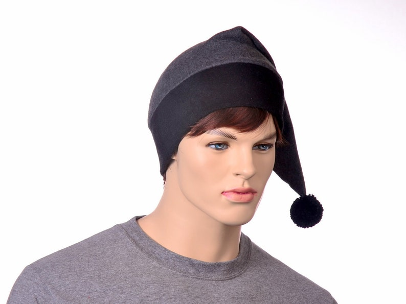 c4bba6750fe Gray Stocking Cap Extra Large Mens Hat Womens Hat Long Pointed