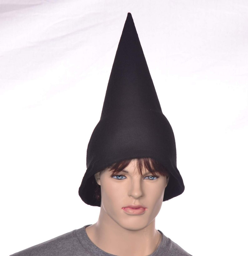 9ee416f49c8 Black Wizard Hat Oversized Pointed Cap Gnome Pointed Elf