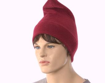 Burgundy Phrygian Cap Liberty Hat Maroon Fleece Cosplay