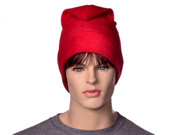 Red Phrygian Cap Simple Liberty Hat Mens Hat Women 4 sizes available Fleece Freedom Hat Cosplay