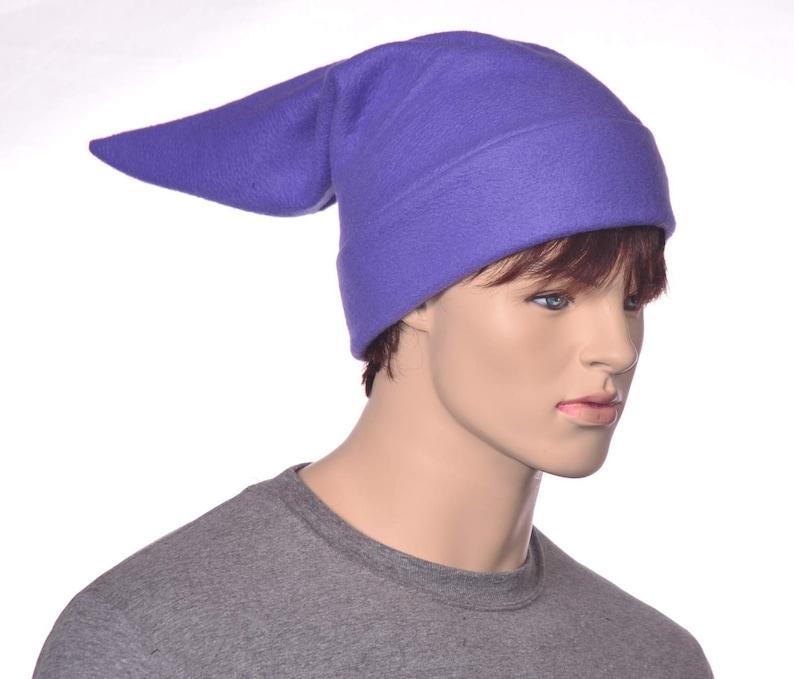 231d396cc7b Medium Purple Elf Hat Stocking Cap Dwarf Fleece Pointed