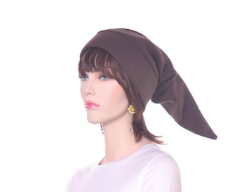 Elf Hat Brown Adult Extra Long Pointed Stocking Cap Cosplay