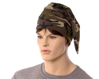 NightCap Camo Green Night Cap Cotton Knit Unisex Adult Men Women Chemo Hat Headcover