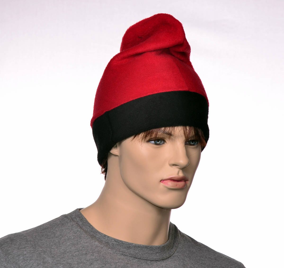 e190b8a22 Barretina Hat Red Black Fleece Slouchy Beanie Cap Barrentina ...