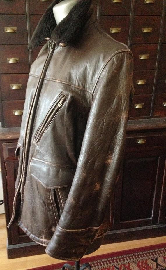 vintage 50's Brent Sportsman men's leather half be