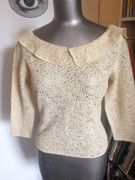 vintage circular knit Austrian sweater