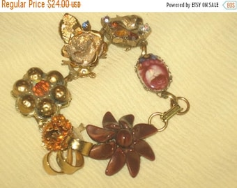 25%Off Vintage Earring Bracelet/Shades of Gold/Free Shipping