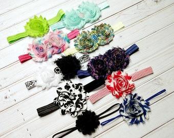 Headband Set, Baby Headbands, Grab Bag, Toddler Headbands, Photo Prop, Infant Headbands, Baby Girl Headbands, Baby Girl Bows, Newborn-3M-#7