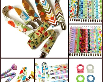 Pacifier Clip, Universal Fabric Pacifier Clip, You Choose Your Fabric, Baby Shower Gift, Girl and Boy Paci Clip, Binky Clip, Soother Clip