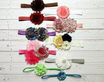 Headband Set, Baby Headbands, Grab Bag, Toddler Headbands, Photo Prop, Infant Headbands, Baby Girl Headbands, Baby Girl Bows, Newborn-3M-#2