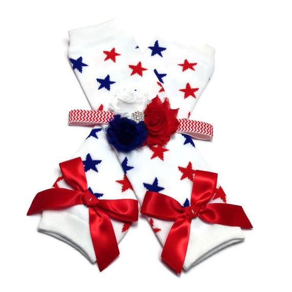 c608a2313 4th of July Leggings Star Legwarmer and Headband Set Baby | Etsy