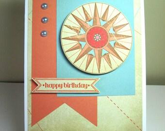 Nautical Happy Birthday Handmade Card