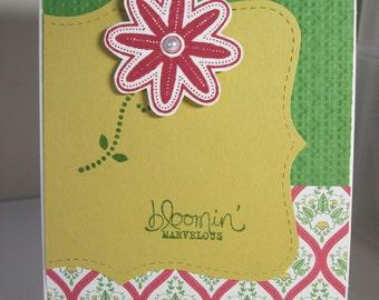 Flower Handmade Card