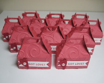 12 Got Love Mini Carry All Box Party Favors