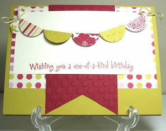 One of a Kind Birthday Handmade Card
