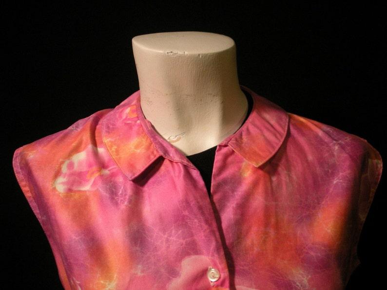 Floral Electric Pink Vintage Blouse