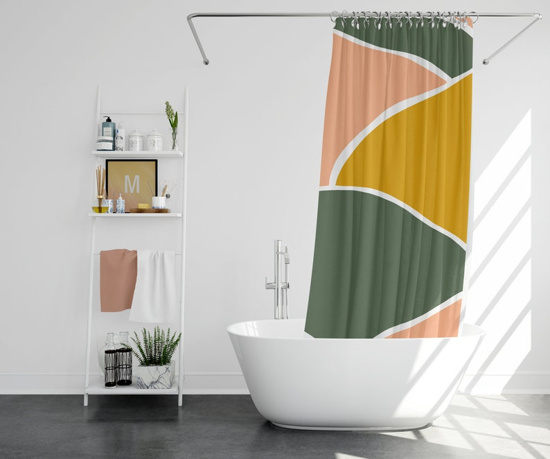 Lola Shower Curtain Boho Shower Curtain Boho Bathroom Decor Boho Chic Decor Boho Chic Bathroom Decor