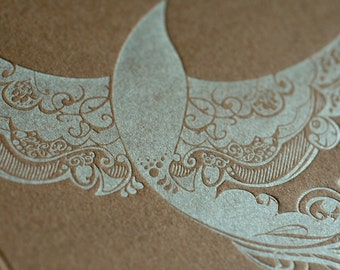 Natalie's Sparrow - Letterpress Bird Notecard